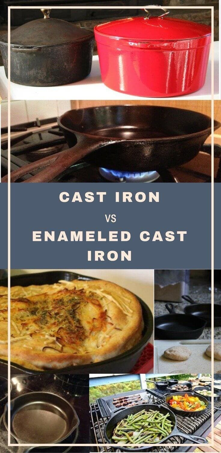 Enameled Cast Iron Vs. Cast Iron