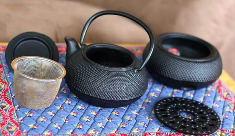 Assortment of Cast Iron Teapots
