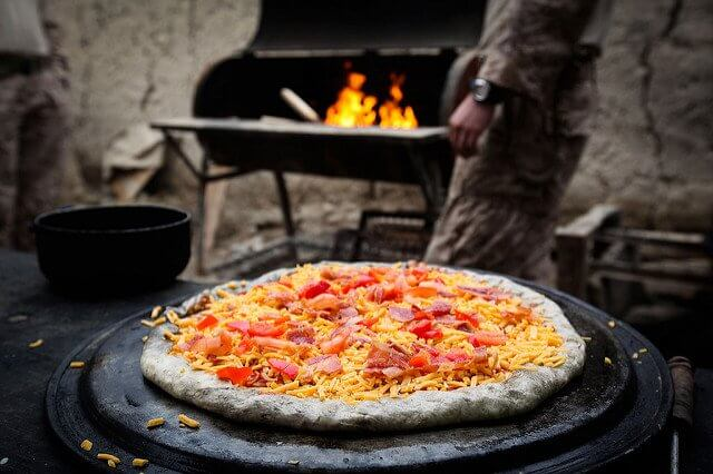 Pizzas and grills were made for each other.