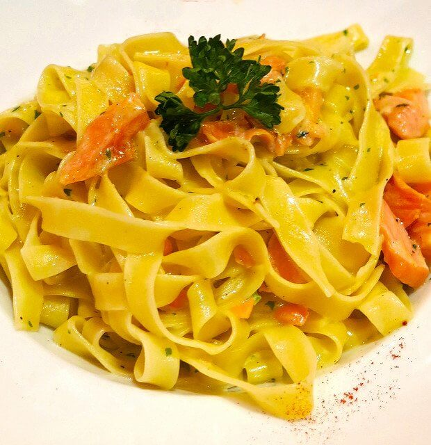 You can make this entire salmon and pasta dish from scratch with the right tools!