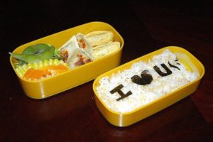A healthy bento lunch is a sweet way to show your child you care.