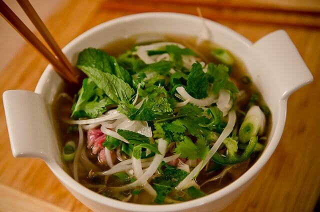 A tasty pho can also help you get over that sore throat!