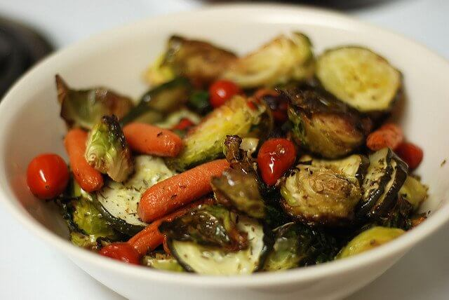 roasted vegetables bowl