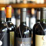 lines of wine bottles