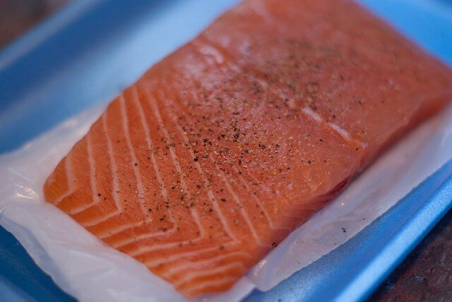 Salmon fillet is the cut you want for the grill.
