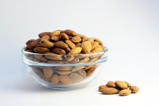 Buy organic to ensure you're getting steam-pasteurized, not fumigated, almonds.