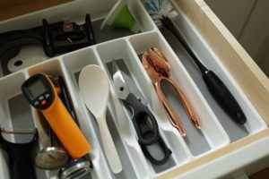 Organize your drawers for a more pleasant cooking experience.
