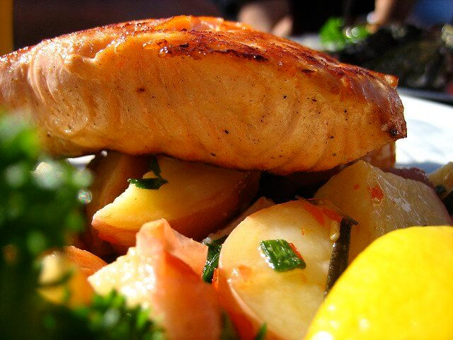 Salmon looks just as lovely as it tastes!