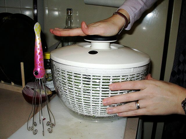 The pump-operated version is a popular take on salad spinners.