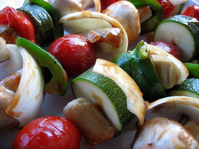 These beautiful kebabs could be yours, for the low, low price of a relaxing day on the porch!