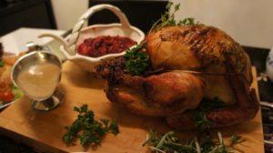 turkey displayed on table