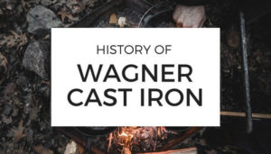 history of wagner cast iron with grill background
