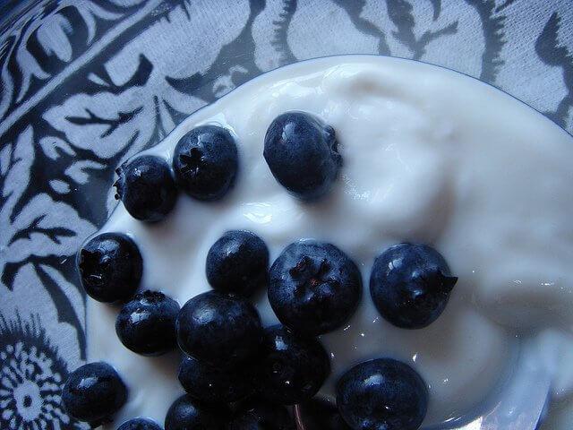 Blueberries and yogurt. It gets no better.