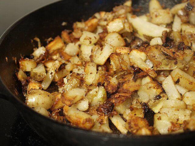 Hello cast iron. Good morning potatoes.
