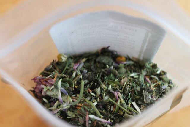 A delicious herbal blend, ready for the tea pot!