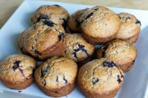 Blueberry muffins... the perfect application for frozen blueberries.
