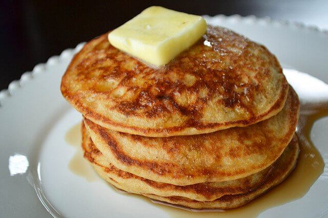 There's only one thing to do with pancakes that look this good. Eat. Eat. Eat!