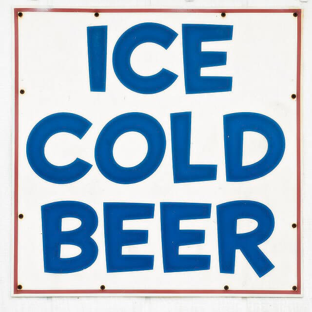 ice cold beer advertisement