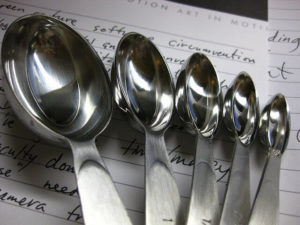 A new and accurate set of measuring spoons make baking a joy.