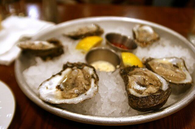 The hard part's done, these oysters are ready to eat!
