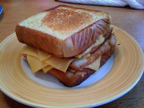 Toasted cheese sandwich... possibly the reason toaster ovens were invented.