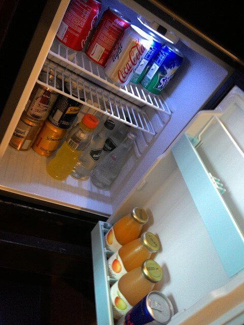 Just the essentials in here. Always be prepared for refreshment!