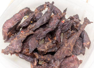 Delicious beef jerky at home is just a quick dehydrating session away.