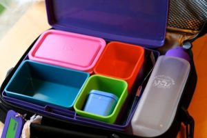 If you want to compartmentalize your meal, make sure your lunch box comes with containers that fit perfectly inside.