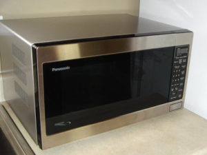 Dorms can be small, so stick with a compact microwave when shopping.