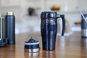 The thermos is an iconic brand of vacuum sealed flasks - perfect for keeping liquids warm.