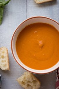bowl of blended soup