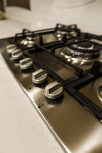 top of gas stovetop
