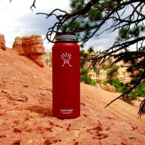 Care for the environment and your health by investing in a reusable water bottle.
