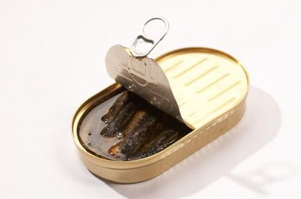 Opened Canned Sardines