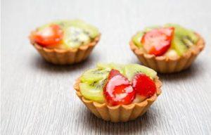 Trio of mini fruit tarts
