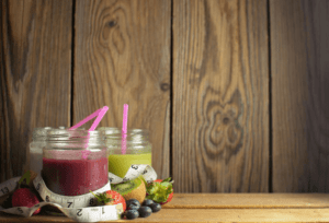 Fruit smoothies are a great way to get a tasty and healthy snack