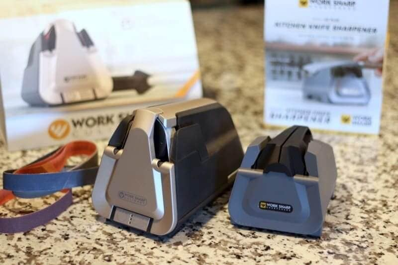 two sharpeners on kitchen counter