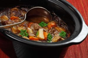 stew in large slow cooker