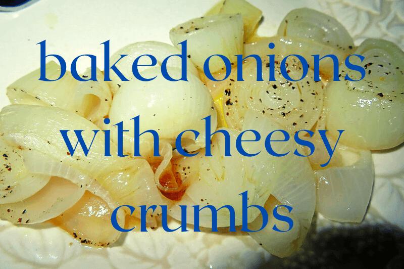 baked onion on white dish
