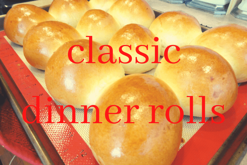 dozen diner rolls on baking mat