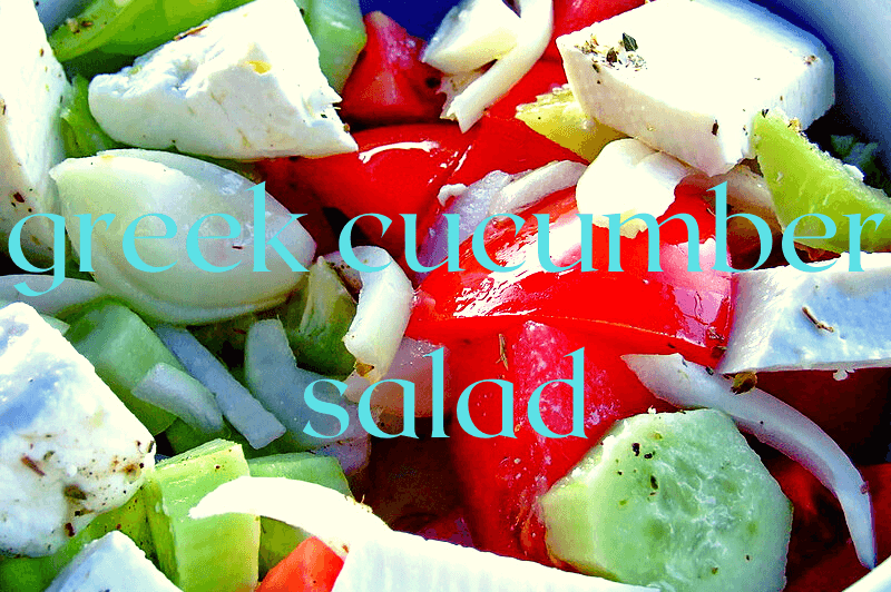 greek cucumber salad with tomatoes
