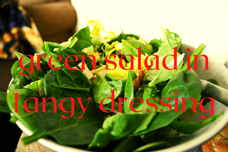 green salad in bowl
