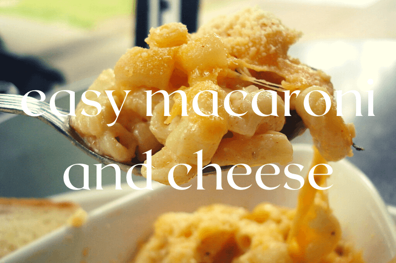 forkful of mac and cheese