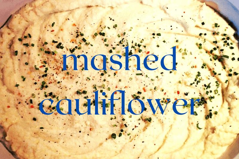 mashed cauliflower with parsley