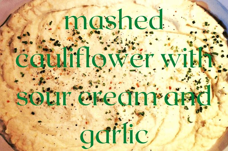 mashed cauliflower and parsley