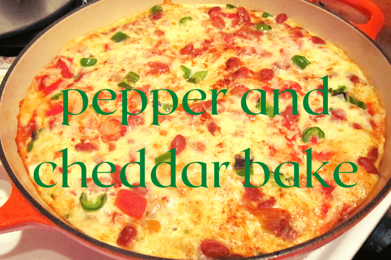 pepper and cheese casserole