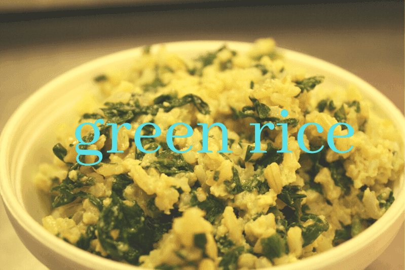 rice with cilantro in bowl