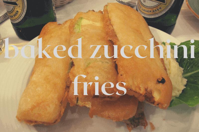 zucchini fries on plate