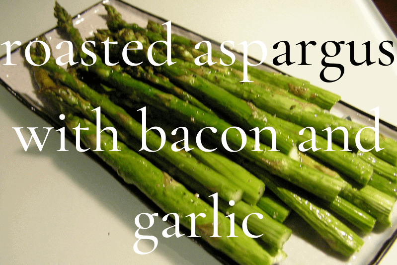 roasted asparagus in glass pan