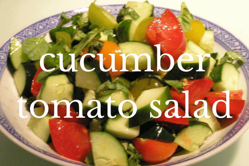 bowl of cucumber tomato salad